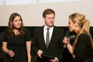 Preview in Hamburg, v.l.: Svea Eckert, Helge Fuhst, Anika Giese